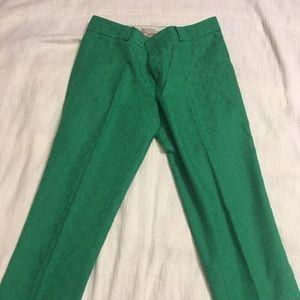 Green brocade slacks
